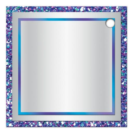 "​Best personalized 2"" round purple, turquoise and silver grey Bat Mitzvah party favor gift tag with ribbon, bow, glitter, and Jewish Star."