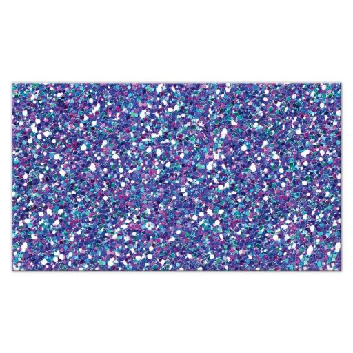 Great ​flat purple, turquoise and silver gray Bat Mitzvah escort card with glitter.