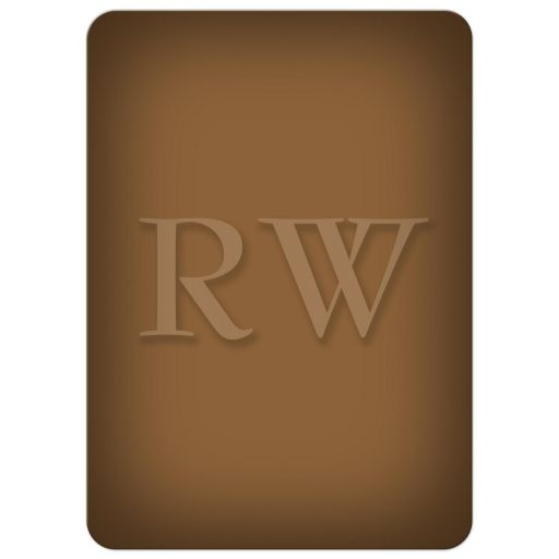Classic Monogrammed Brown Retirement Party Invitation