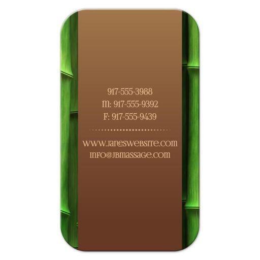 Fresh Bamboo Massage Business Card