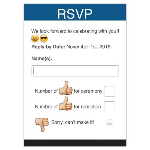 Fun and unique social media themed emoticon app or web form Bar Mitzvah RSVP card