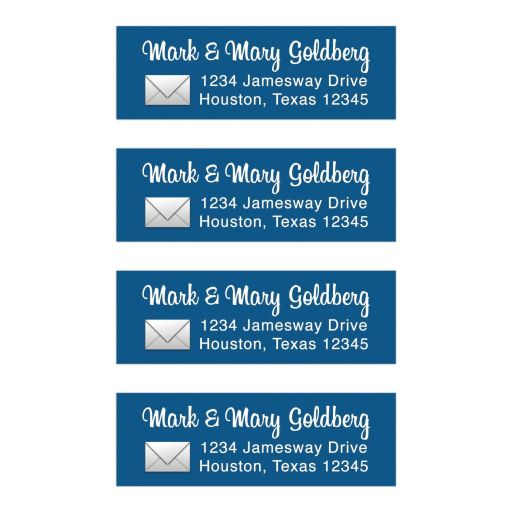 Social media app Bar Mitzvah return address mailing labels