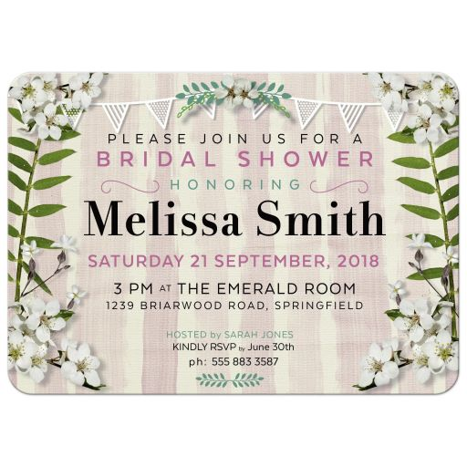 Sweet Blossoms Bridal Shower Invitation