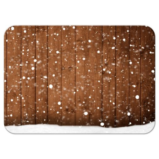 Rustic Winter Snow Chalkboard Frame Reply RSVP Card