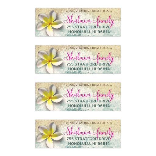 By the Beach Bat Mitzvah Address Labels