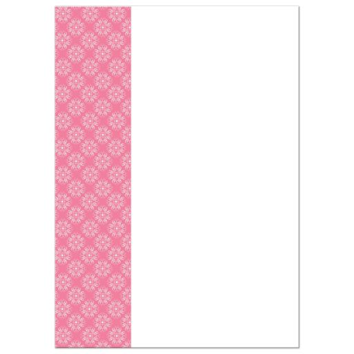 Modern pink, black, white and grey damask pattern baby shower invitations with silhouette of a pregnant woman in high heels, sipping tea from a tea cup.