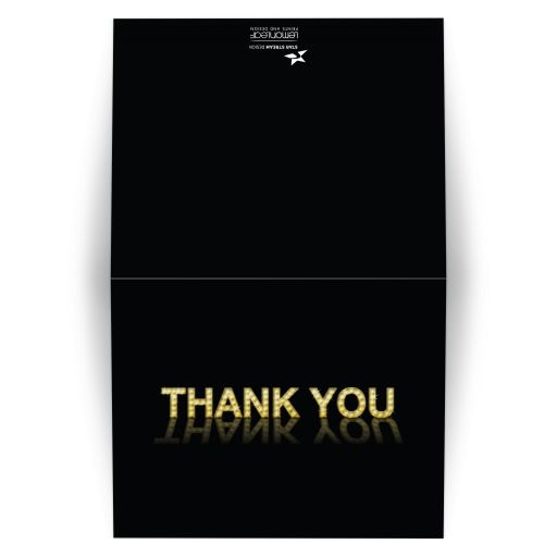 Marquee Lights Theatre Thank You Card