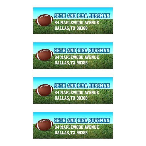 Football Gridiron Bar Mitzvah Return Address Labels
