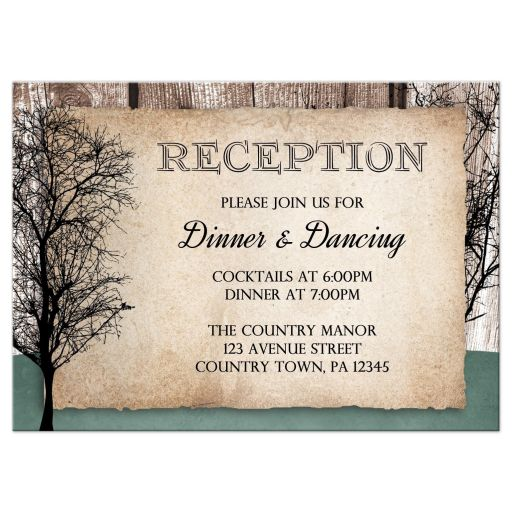 Reception Cards - Deer Rustic Woodsy