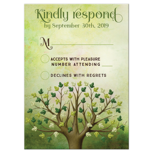 Spring Tree of Life RSVP Reply Card