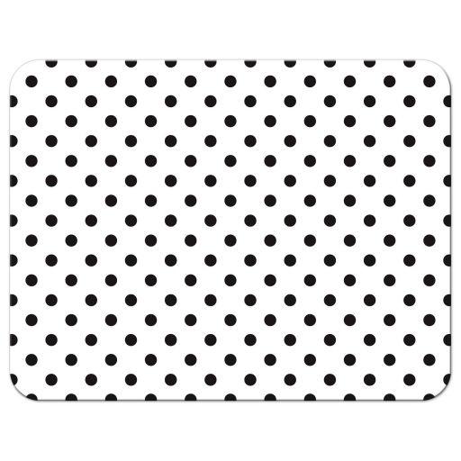 Retro red gerbera daisy, black and white polka dot and ribbon wedding RSVP card back