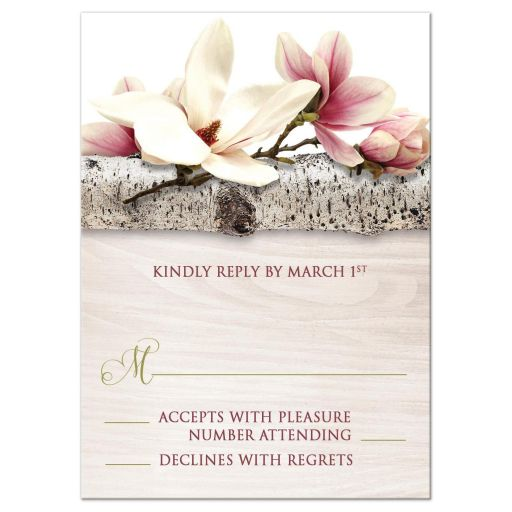 RSVP Reply Cards - Magnolia Birch - Light Wood Floral