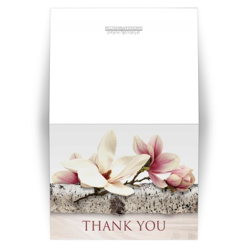 Thank You Cards - Magnolia Birch - Light Wood Floral