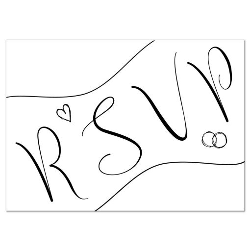 Modern Calligraphy Wedding Response Card
