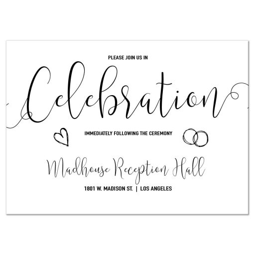 Modern Calligraphy Reception Card