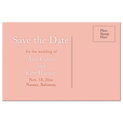 Same Sex Lesbian Save the Date Postcard