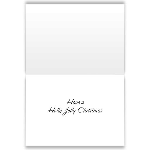 Holly Jolly in sparkles decorates this green Christmas Card