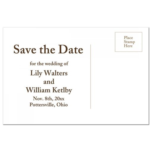 Charming Rustic Horse Save the Date Postcard