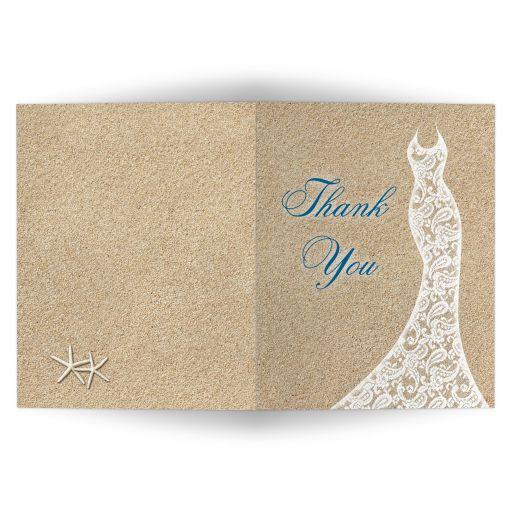 Beautiful Beach Bridal Shower Thank You Card