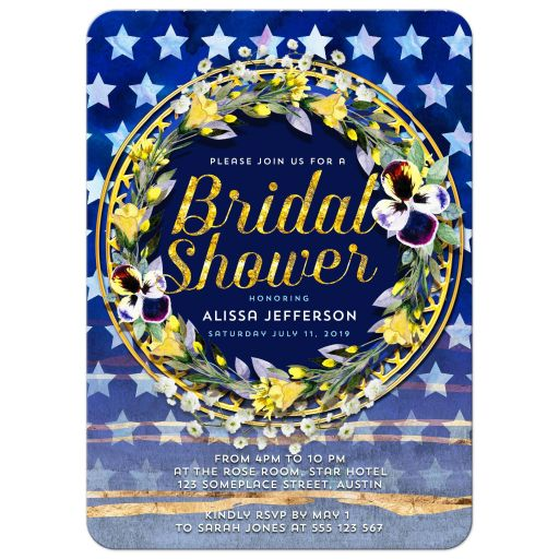 Stars & Stripes Floral Bridal Shower