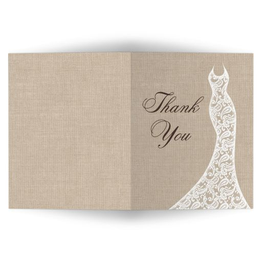 Beautiful Burlap Thank You Card