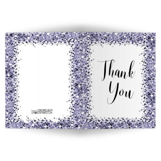 Sparkly Lilac Confetti Thank You Card
