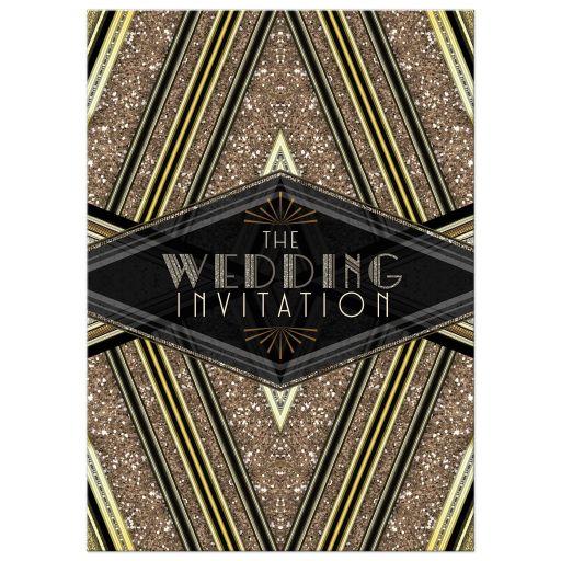 ArtDeco Black Gold Glitter Wedding