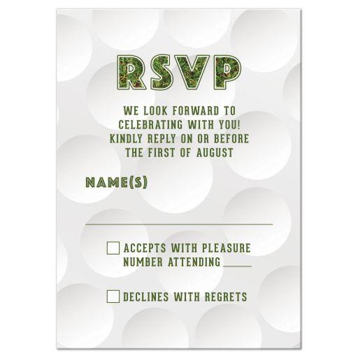 golf golfing bar mitzvah rsvp card