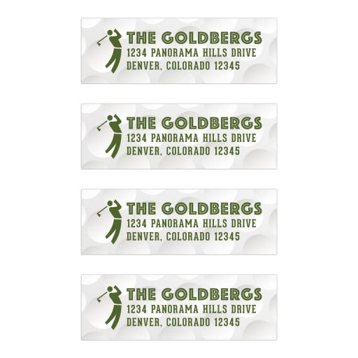 golf golfing bar mitzvah address labels