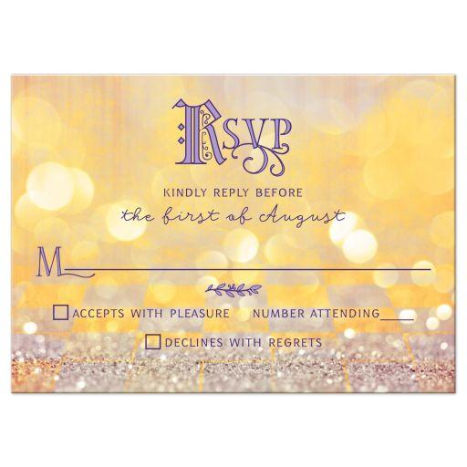 Magical ballroom fairy tale Quinceañera RSVP card