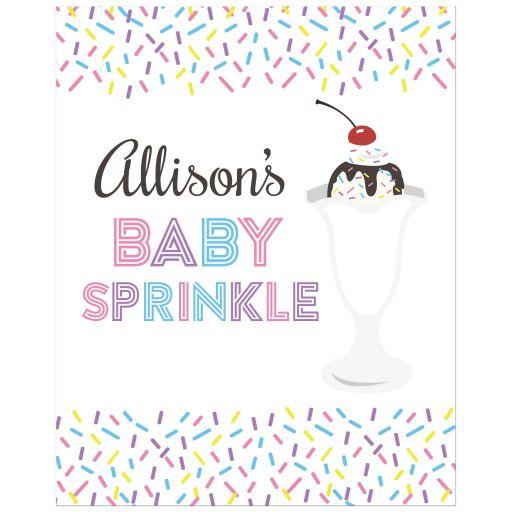 Sundae Baby Sprinkle Custom Sign Poster