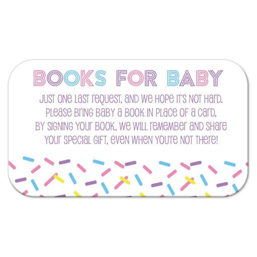 Baby Sprinkle Books for Baby Card