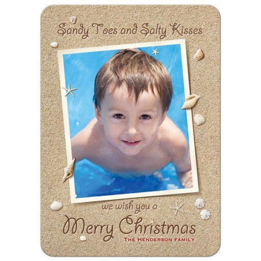 Sandy Toes Salty Kisses we wish you a Merry Christmas Card