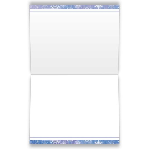Frozen blue, purple, and white snowflakes winter Bat Mitzvah thank you card.