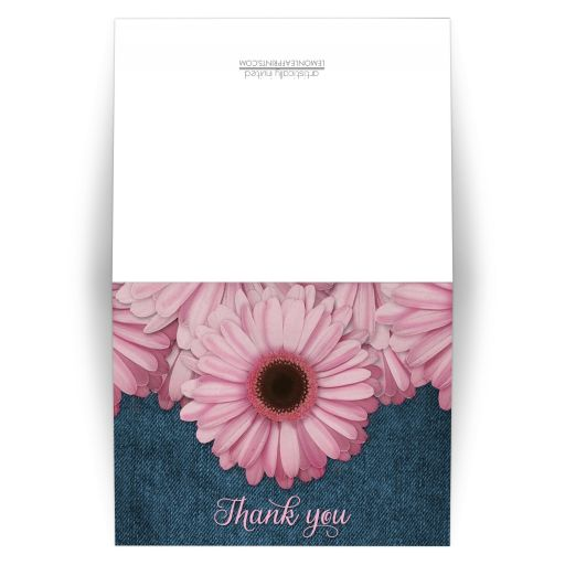 Thank You Cards - Rustic Pink Daisy Denim