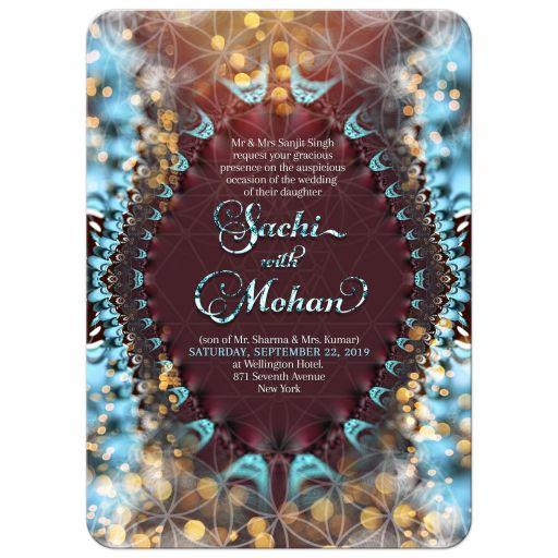 Magical Eastern Wedding | Flower of Life Lights