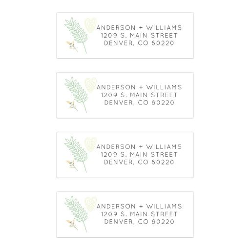 Spring Floral Customized Wedding Mailing Labels | Custom Address Labels Nature theme wedding