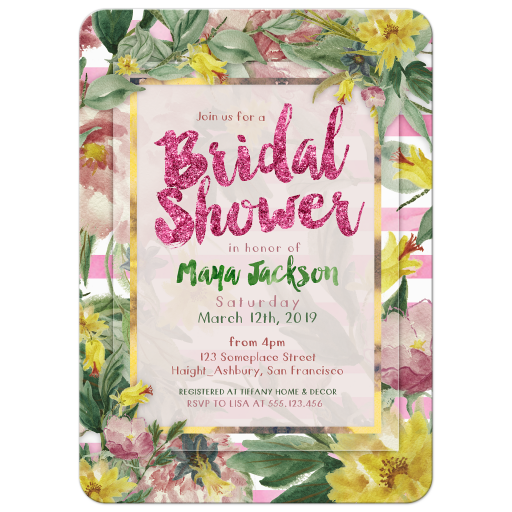 Nature Flowers Bridal Shower invite