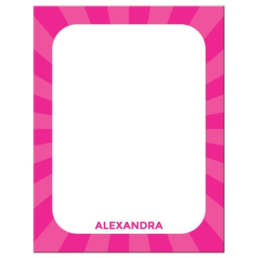 Cute, blank tooth notecard