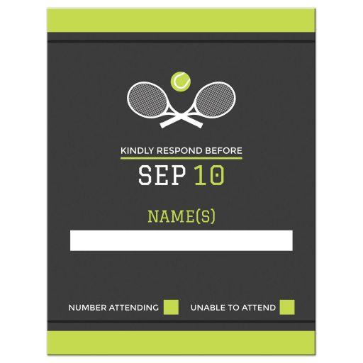 Tennis themed bar mitzvah RSVP card
