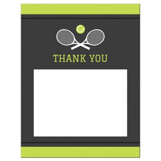 Tennis bar mitzvah thank you note card