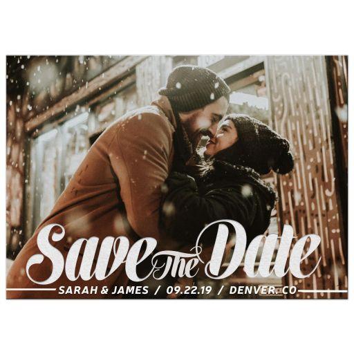 Bold Script Save the Date Photo Card