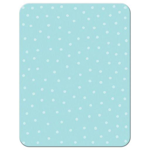 Flat mermaid thank you note card with aqua blue bubble border