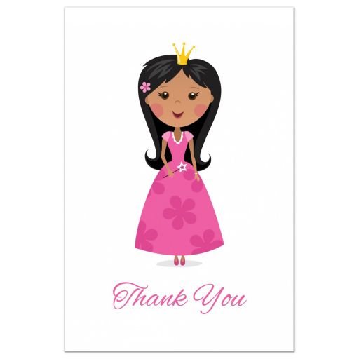 African american princess thank you postcard