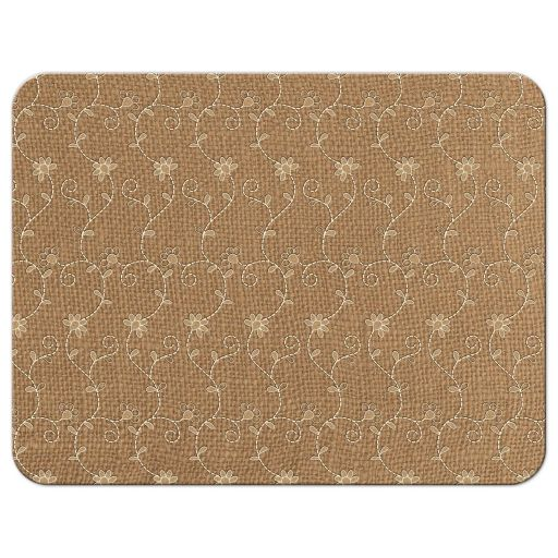 Elegant rustic burlap and lace wedding meal choice reply card back