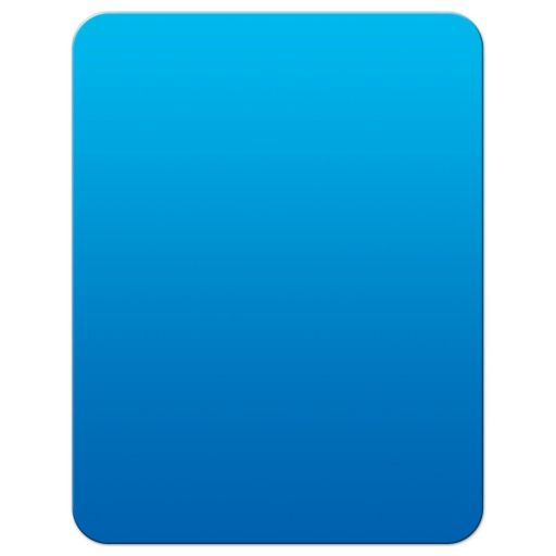 Personalized Tablet Technology Thank You Note in Blue.