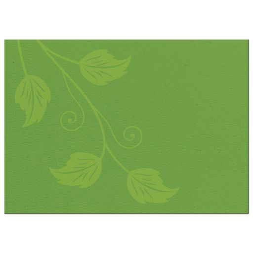 Greenery green and white leafy vine and leaves wedding invitation back