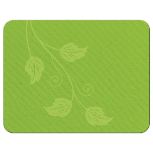 Greenery green and white leafy vine and leaves wedding RSVP card back