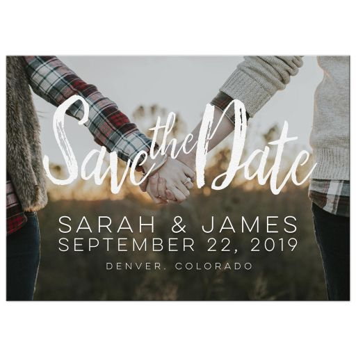 Rustic Hipster Save the Date
