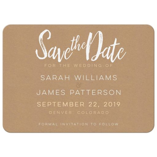 Kraft Save the Date Card